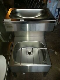 PLANNED JANNITORIAL STEEL SINK with mixer tap