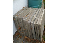 concrete paving slabs 600x600x50, 17 used but unbroken