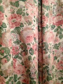 Dorma English Rose Pink/Green Curtains