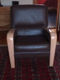 Ercol G-PLAN CHAIRS in Brown leather