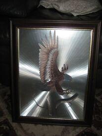 eagle foil metal art picture