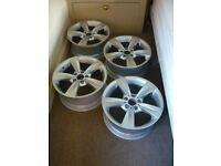 4 x Genuine BMW 18 inch; 5 Star Spoke Alloy Wheels (Full Set), Refurbished, Style 287