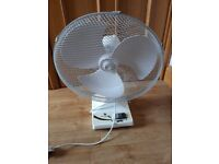 White 16 inch Oscilatting fan.