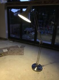 Large floor lamp (desktop light design) brushed steel