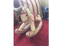 Handmade stuffed rocking horse