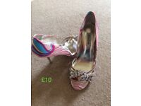 Dune multi coloured shoe size 4.
