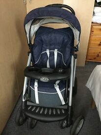 Graco travel system pushchair car seat and car base