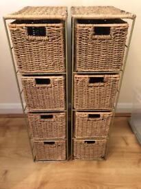 Wicker storage £15 Ono for both