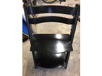 Stokke Tripp Trapp Chair, beech wood, black finish