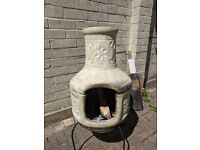 Clay Chiminea / Pizza Oven Cost £109.99 last summer - selling due to house move