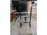 Domyos BM 490 Weight Bench and stands for sale