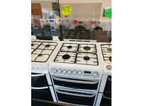 CANNON WHITE 60CM DOUBLE OVEN DUEL FUEL COOKER