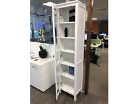 Display Cabinet white glass front