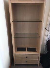 Display cabinet light wood