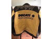 Ducati leather motorcycle jacket size M