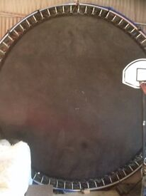 12ft X 12ft TRAMPOLINE WITH SAFETY NET..NEVER USED OUTSIDE..RRP.£379....£150