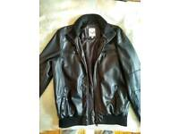Mens Jacket Small - Faux Leather