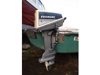 evinrude 8 hp outboard motor boat dinghy cruiser