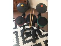 PS3 Band Hero Guitar Hero Drum Kit With Microphone