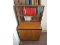 Small Glass Fronted Sliding Door Cabinet with Lower Shelved Storage #043F