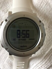 SUUNTO CORE ALU PURE WHITE THE OUTDOOR WATCH WITH ALTIMETER, BAROMETER & COMPASS - NEW – £250