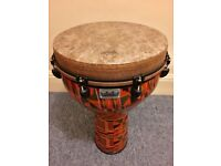 """Remo 27x16 inch Paulo Mattioli African Collection Djembe with 16"""" Stagg carrying bag"""