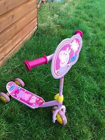 Peppa pig and Disney frozen kids scooter