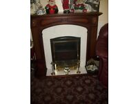 coal effect electric fire with surround