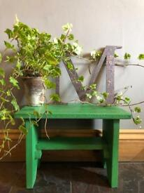Rustic wooden small stool