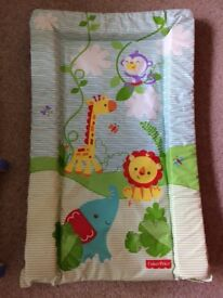 FISHER PRICE COT MOBILE AND CHANGING MAT