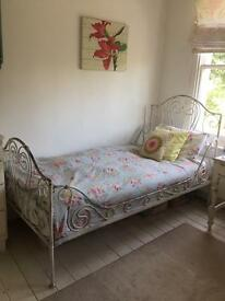 Beautiful Old White iron Bed