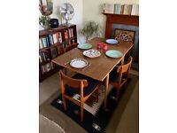 1960's Mid Century Extendable Dining Table