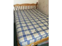 House Clearance, Take a look... 2 X Pine Double Bed with Mattresses