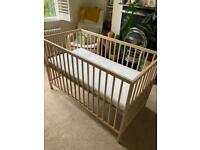 Cot IKEA two heights including mattress