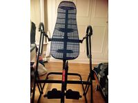 Cintura inversion table back alignment machine with ankle cuffs virtually unused