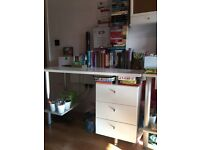 2 X Desks (with Drawer unit) & Swivel Chairs