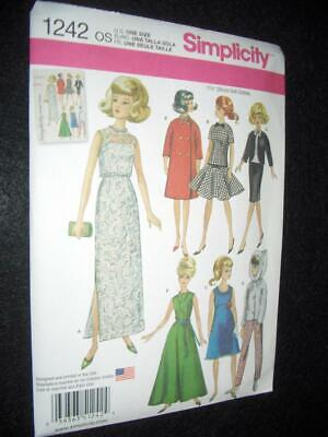 Barbie Doll Vintage Look New Simplicity 1242 Pattern Jumpsuit