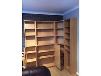 Ikea Bookcase, oak veneer