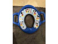 Mickey Mouse soft toilet seat with handles