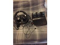 Logitech g920 steering wheel for Xbox one