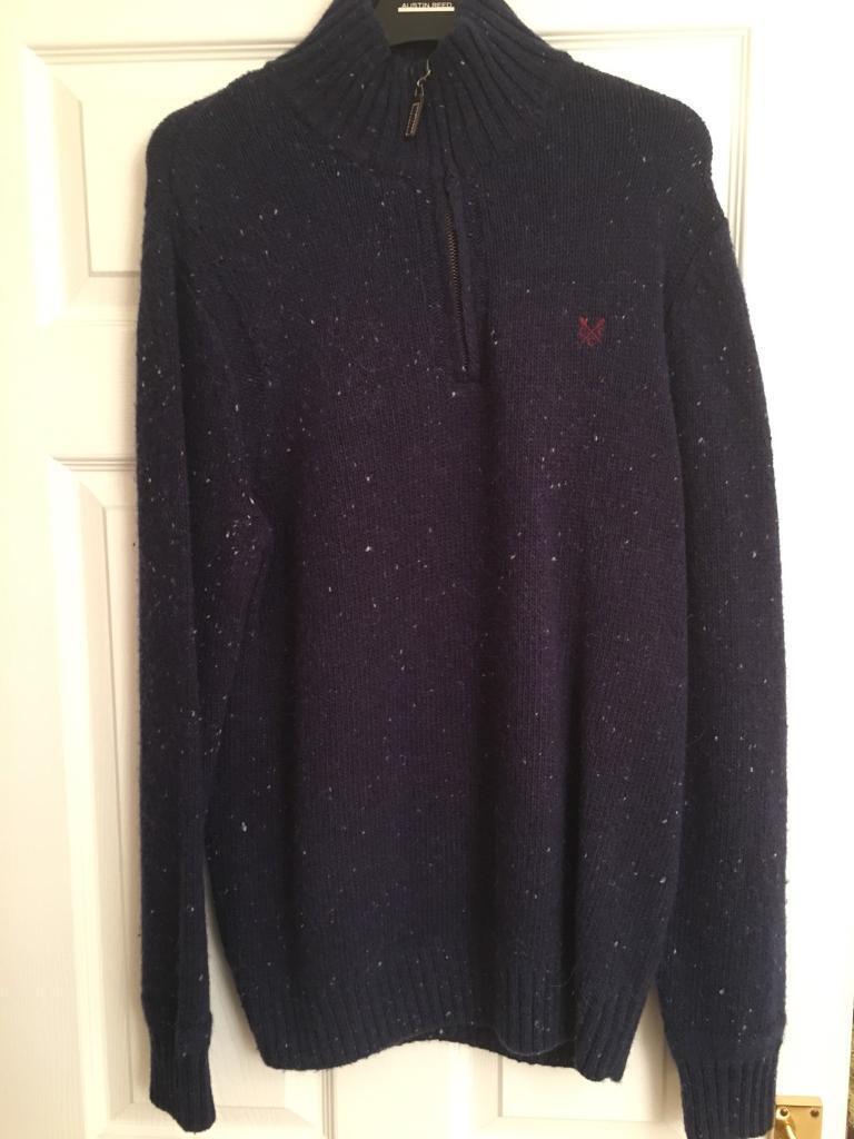 Crew clothing woollen jumper - small - 1/4 zip