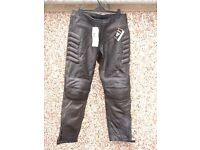 New Skintan motorcycle leather trousers