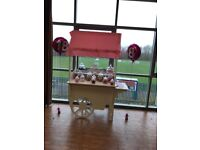 Candy cart for hire £80 comes complete with sweets