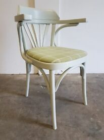 BENTWOOD CLASSIC WOOD FAN BACK ARMCHAIR PAINTED BENT WOOD CHAIR DELIVERY AVAILABLE