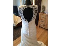Phoenix Gowns - Ivory Lace Top Dress with keyhole back - size 12 RRP£900!!