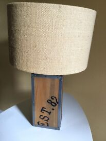 Great wooden base table lamp from next