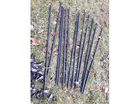 Black Iron Stair carpet rods