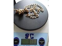 Selling my 9ct gold chain with bull dog pendant 37.3g!!!