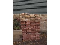300 Red Rustic Reclaimed Bricks for Sale