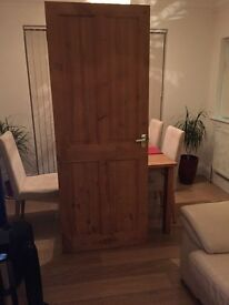 4 x pine internal doors with all fittings and handles
